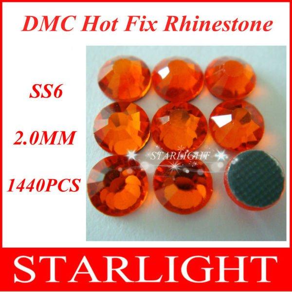 DMC hotfix rhinestones,Sun Color ss6,China post air mail free,1440pcs/lot star15(China (Mainland))