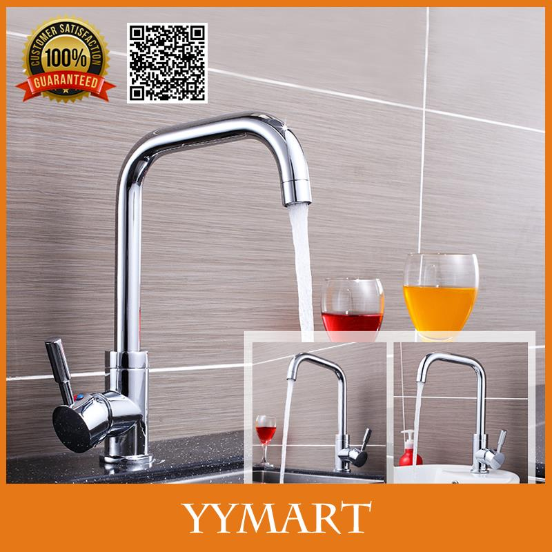 Polished Chrome Copper Basin faucet Kitchen Sink Tap Single Handle Cold Hot Water Pull Down Swivel With 60cm Pipe BK03(China (Mainland))