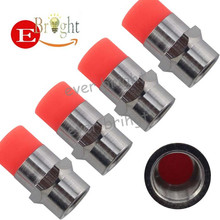 1Set Red Color 2015 New Car Tire Valve Caps Cover 4pcs+Retail Packaging Free Shipping(China (Mainland))