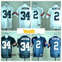 New Youth Auburn Tigers 2 Cam Newton 34 Bo Jackson College Jersey Embroidery Logo(China (Mainland))