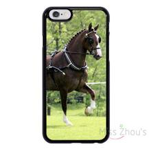 For iphone 4/4s 5/5s 5c SE 6/6s plus ipod touch 4/5/6 back skins mobile cellphone cases cover Carriage Driving Cart Horse