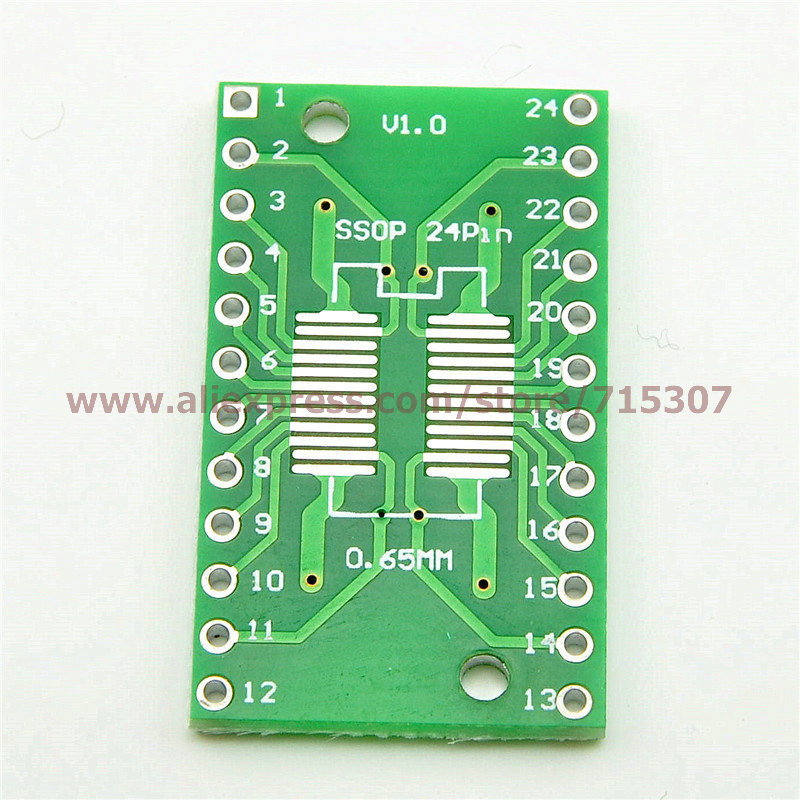 20pcs adapter board SOP24/ SSOP24/ TSSOP24 (smd to dip) 0.65/ 1.27mm pitch(China (Mainland))