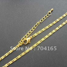 Free shipping hot sale and retail gold  fylfot necklace chains NS10216 (430+50)X2.5MM 60pcs/lot(China (Mainland))