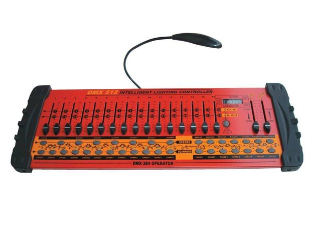 DMX 512 controller;total 384 output channels,red color housing;P/N:DMX-384