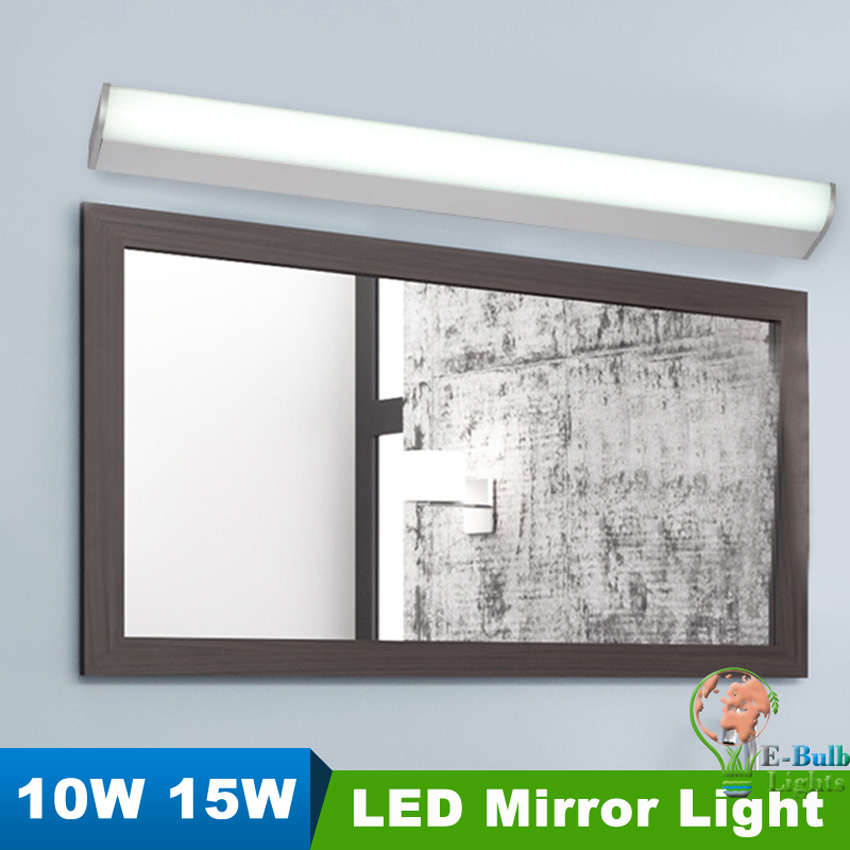 LED Mirror Light 10W length 16.5 inch/15W 22 inch Modern led Wall Lamp led Bathroom tube lights Cabinet lamp 85-265V lighting(China (Mainland))