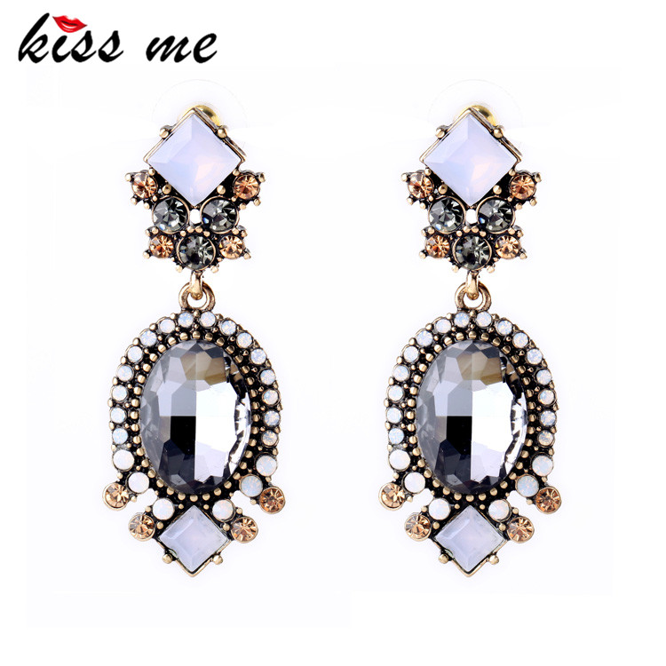 Party Luxury Cubic Zirconia Earrings Brinco Women Tide Clearly Brand Jewelry China Factory Wholesale(China (Mainland))