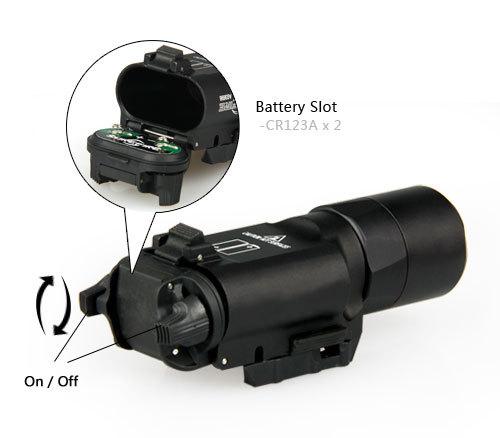 Hot Sale X300 Ultra LED Flishlight For Hunting BWF-002BK<br>
