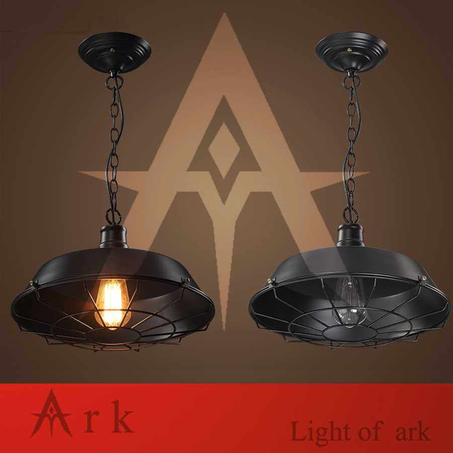 ARK LIGHT LOFT IRON Pendant light american old furniture nostalgic vintage  for Balcony aisle hallway DINING SHOWING ROOM - us767