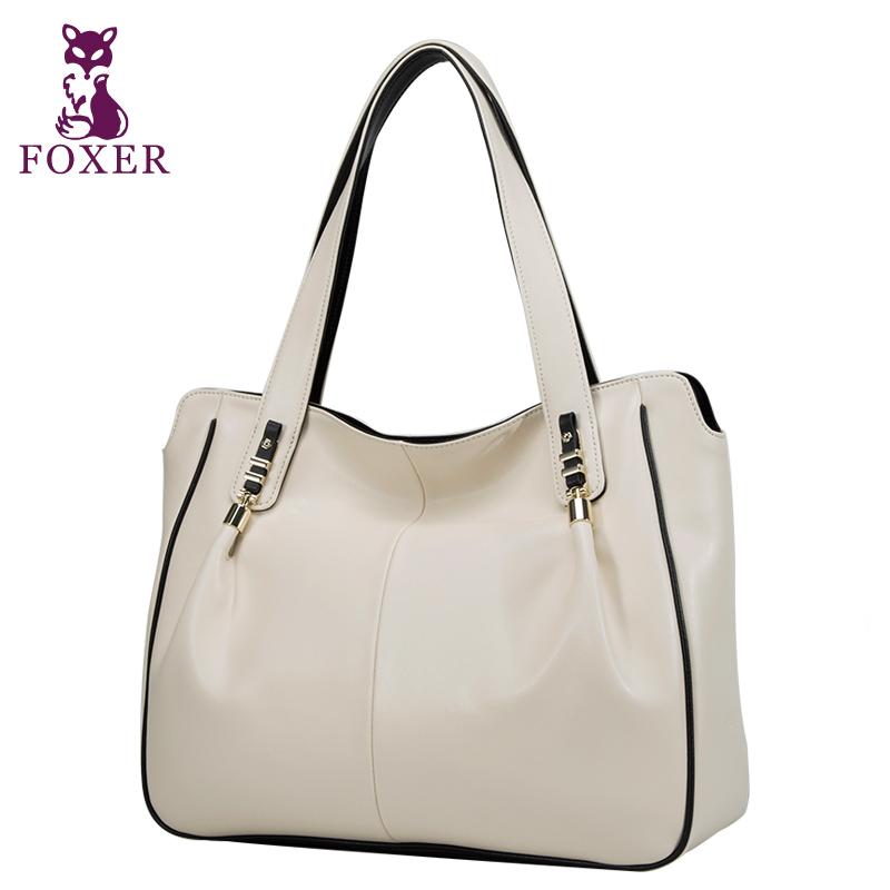 FOXER women handbag designers brand genuine leather new 2016 fashion shoulder bags wristlets evening bag women messenger bags(China (Mainland))