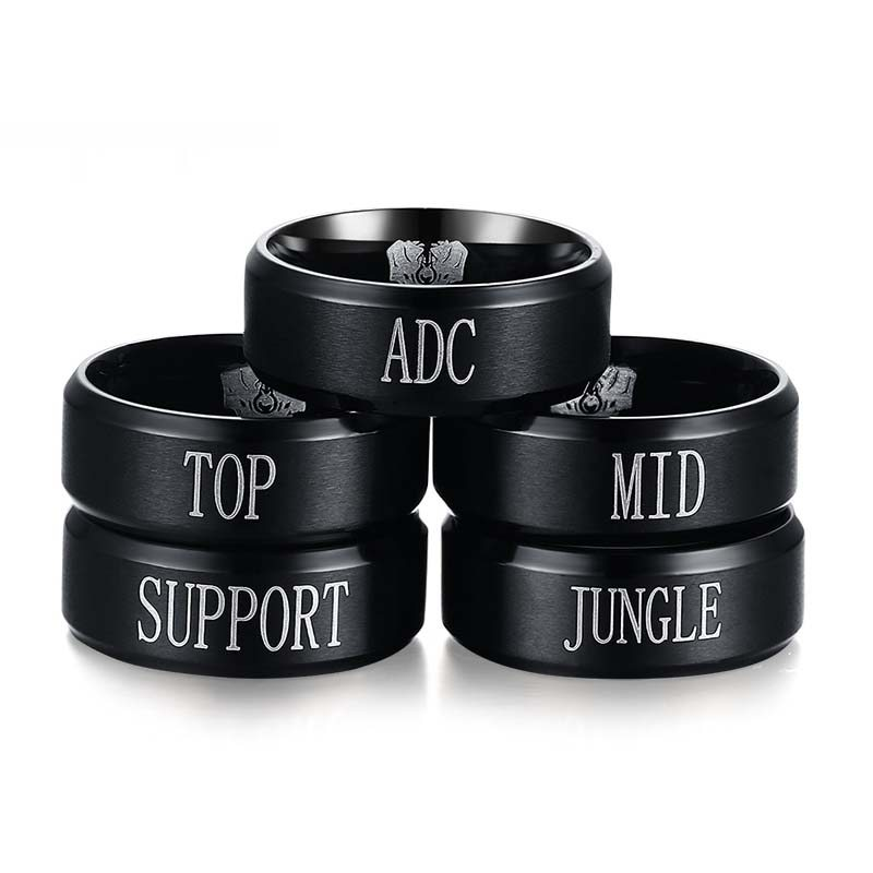 2016 Game LOL Ring With Engraving Challenger For Women Men Stainless Steel Punk Rock Ring New Game Party Jewelry USA Size R-174(China (Mainland))