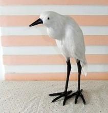 new simulation white Egret toy polyethylene & furs handicraft Egret bird about 25x11x30cm