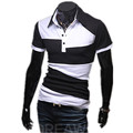 Men's Tops Tees Newest summer new v neck short sleeve casual t shirt men fashion trends fitness tshirts free shipping