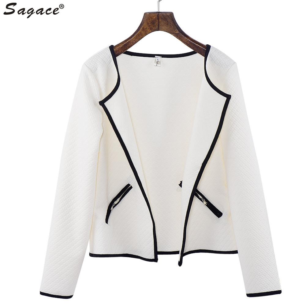 Sagace Women Long Sleeve Lattice Jacquard font b Tartan b font Short Cardigan Girls Fashion Top
