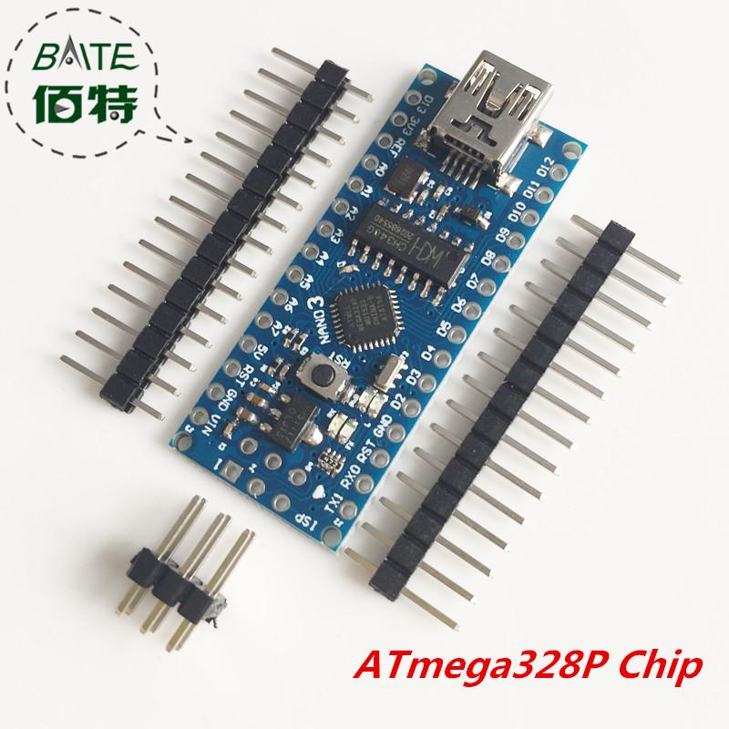 Free Shipping atmega328P Nano 3.0 Controller Board Compatible with Arduino Nano CH340 USB Driver(China (Mainland))