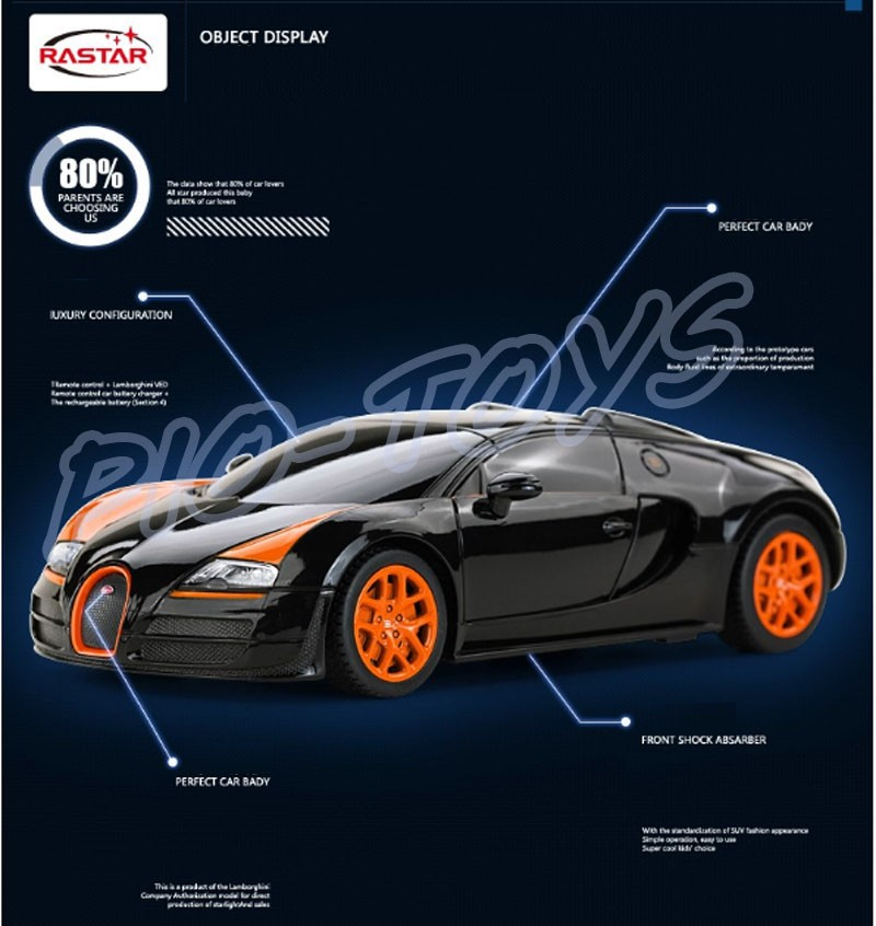 hotsale 1 24 bugatti veyron rc car king of road model racing speed voiture au. Black Bedroom Furniture Sets. Home Design Ideas
