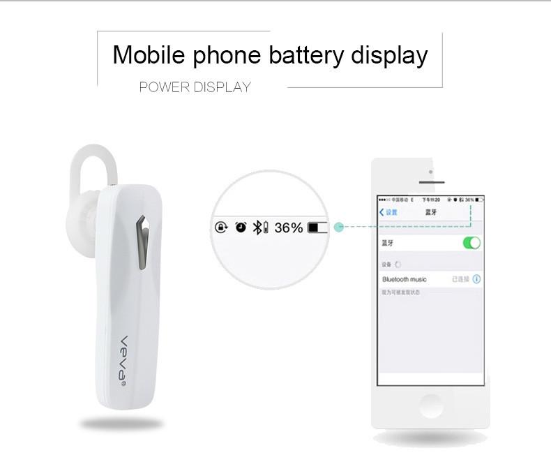 VEVA E15 Luxury Portable Mini Earphone Wireless Bluetooth Headset for iPhone 5s 6s 6plus Samsung S7 Edge S6 edge Plus With Mic