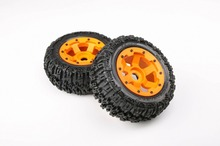 Buy 1/5 baja 5t Nylon Wheel Knobby Rear tyres 2pcs/pair 95072 hpi km rv baja 5T sc rear for $75.99 in AliExpress store