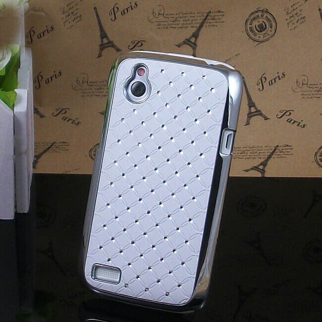 Colorful Rhinestone Case Starry Phone Shell Protective Shell Plating Diamond For HTC Desire V T328W / Desire X T328e(China (Mainland))