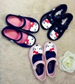 Free Shipping PVC Plastic Bowknot Sandals For Baby Girls Fish Head Shoes Soft UToe Kitty Cartoon