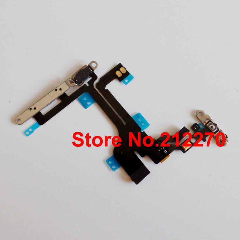 Free DHL EMS New Power Volume & Mute Button Flex Cable With Metal Bracket For iPhone 5C Wholesale(China (Mainland))