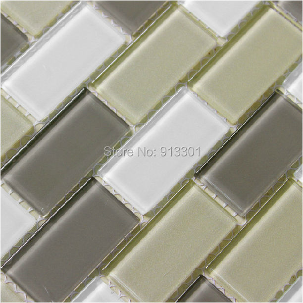 Subway Glass Mosaic Tile Mix Colors Brick Wall Panels Kitchen Backsplash Tiles Xgt123 Bathroom
