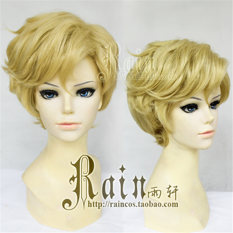 Free Shipping Anime Sailor Moon Sailor Uranus Cosplay Synthetic Wig Tenoh Haruka Short Golden Yellow Cosplay Wig Heat Resistance<br><br>Aliexpress