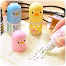 4 PCS Random Colors Small Animal Duck Mini Correction Fluid Kids Gift Stationery Cute Correction Tape(China (Mainland))