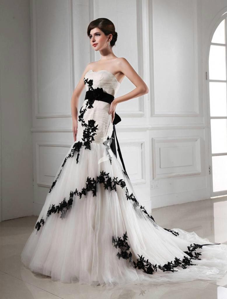 Robe de mariage noir promotion achetez des robe de mariage for Don de robe de mariage militaire