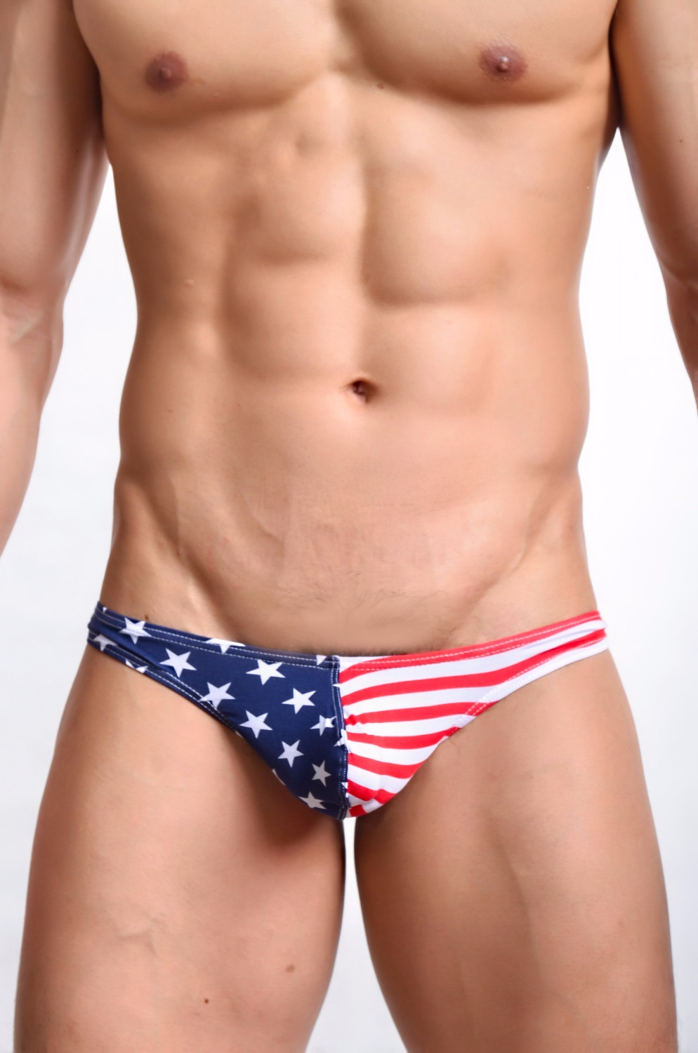 New Mens Sexy Thongs Striped Gay Underwear Printed Thongs and G Strings Low Rise Mens Underwear Penis Hipster top