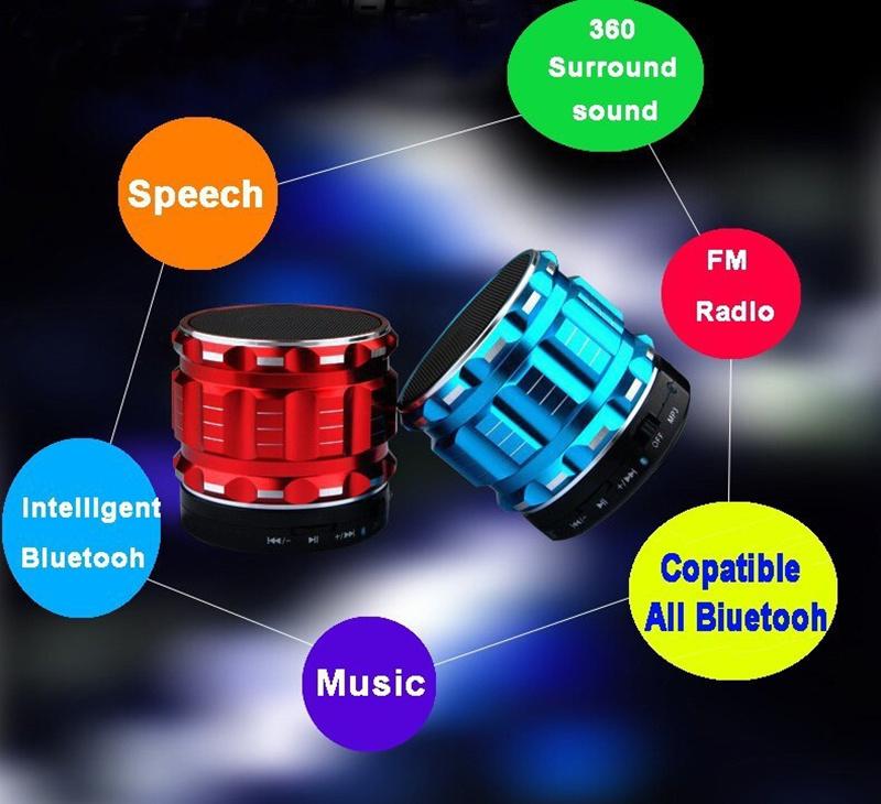 Portable Mini Bluetooth Speaker Wireless Stereo Surround Speakers Outdoor Sport Loudspeaker With Mic +TF Card Slot FM Radio(China (Mainland))