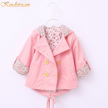 2016 Spring Baby Girls Floral Jackets Brand Cotton Hooded Flower Coats for Infant 0 3 Years