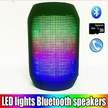 2015 New Hot Pulse Portable Wireless Bluetooth Speaker Support Colorful 360 LED lights U-disck and TF card Outdoor Speaker