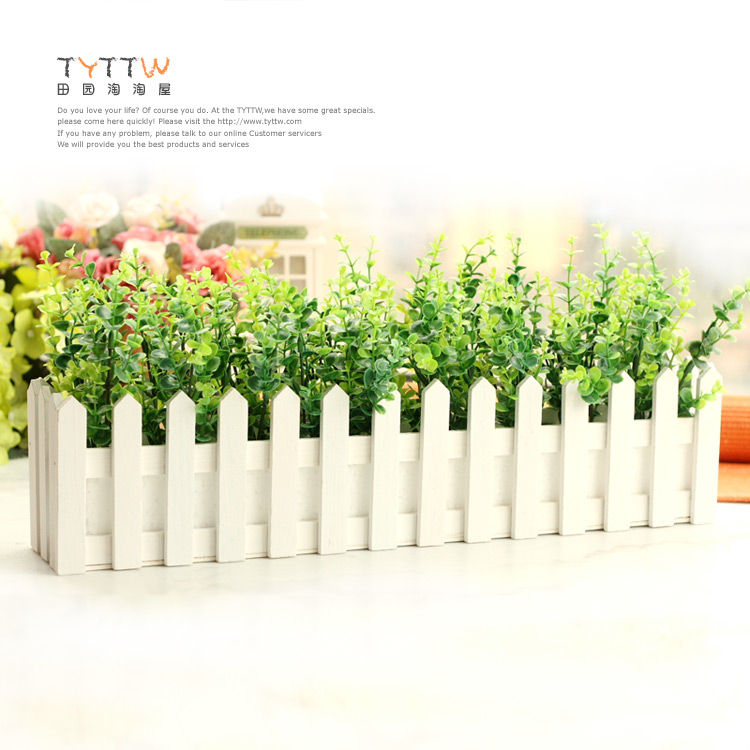 ... cm lungo piante verdi rustico recinto di legno decorazione della casa
