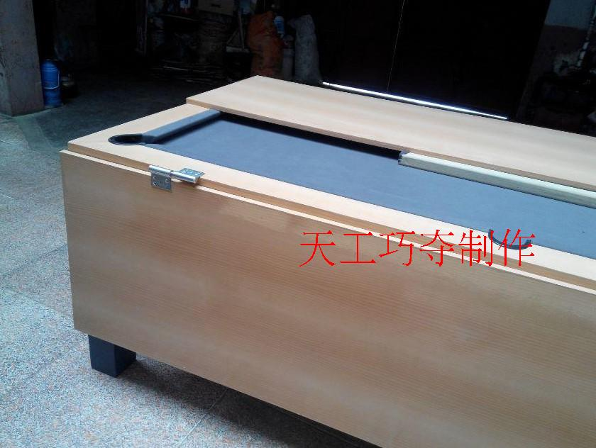 Shallow maple wood solid wood dining table billiards(China (Mainland))