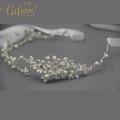 Free Shipping Rhinestone Bridal Headpiece Satin Ribbon Wedding Hair Accessories