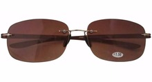 SR14002 Patented Sun Readers Rimless Bifocal Sunglasses For Men and Women W case 1 00 1