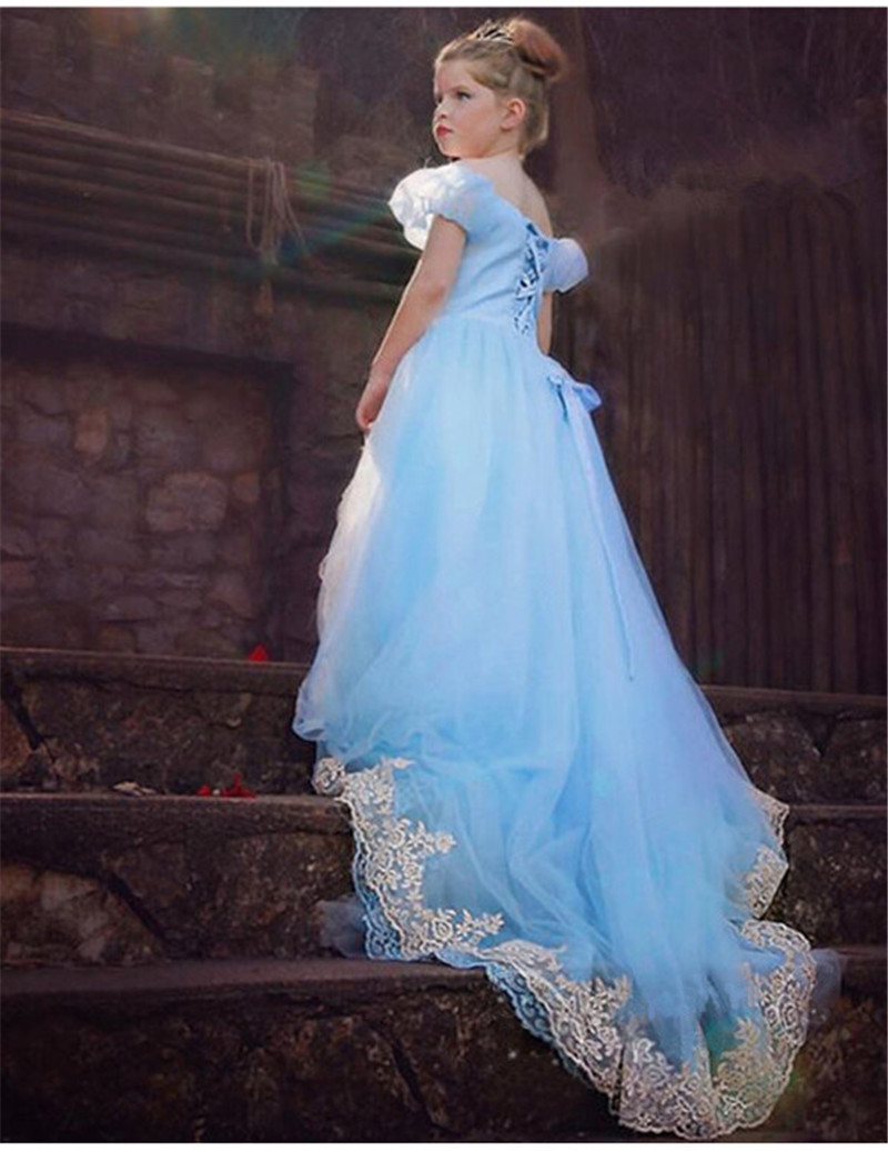 2016 style girl cinderella dress for kids princess cinderella dress ...