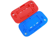 Blue/Red Soft Silicone Full Protector Gel Case Cover Skin Shell Sleeve for Nintendo Wii U Gamepad