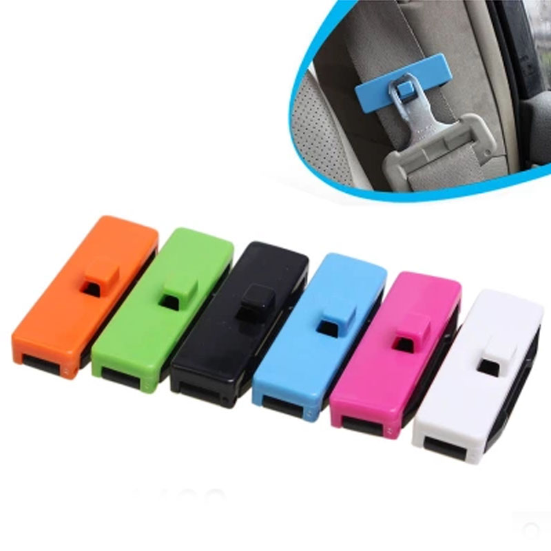 1 Pair Universal Safety Plastic Car Seat Belt Clip Stopper Buckle Auto Seatbelt Non-slip Clip Auto Accessories(China (Mainland))
