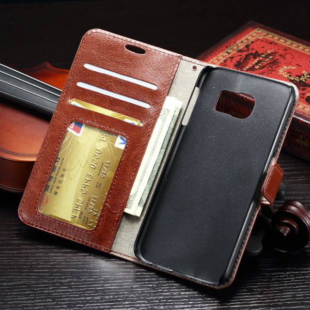 For Samsung Galaxy S7 Plus Luxury Wallet Leather Case For Samsung S7Plus Phone Bag Flip Cover With Stand & Card Holder 10pcs/lot