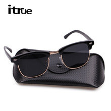 Vintage Half Metal Polarized Sunglasses Men Women Fashion Classic Mirror Sun glasses Brand Designer Gafas Oculos De Sol UV400(China (Mainland))