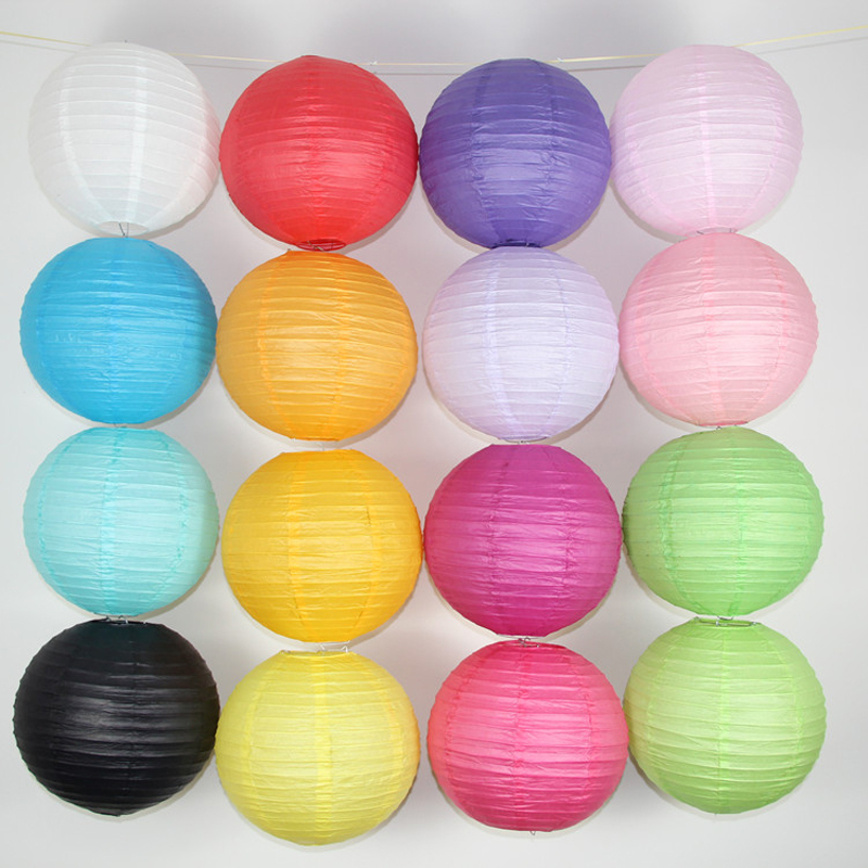 10PCS/Lot Hot Sale 6'' 15CM High Quality Paper Ball Chinese Paper Lanterns For Party Garden And Wedding Decoration Lanterns(China (Mainland))