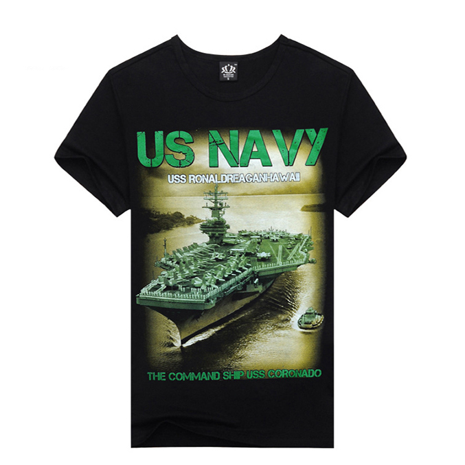 High Quality US Navy Aircraft Carrier Graphic Printed Women Men Unisex T-shirt Black Tee Tops Printing T-shirts Summer Style(China (Mainland))