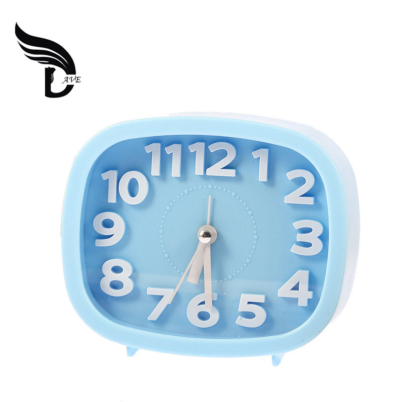 Creative Candy Color Square Shape Mini travel alarm clock Desk Small Digital Alarm Clock Gift For Friends