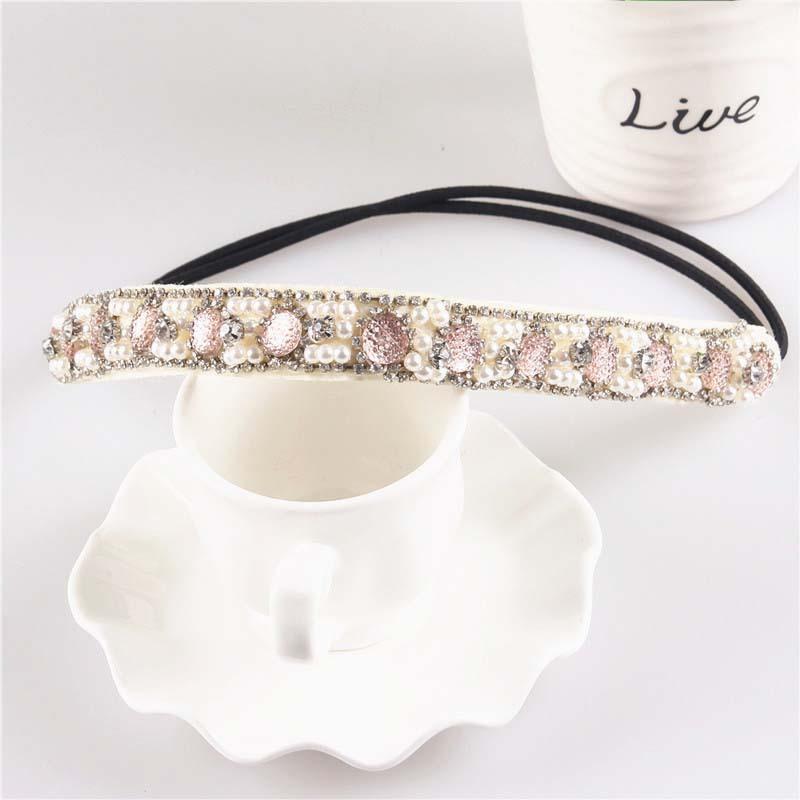 New Style Narrow Elastic Headband Fashion Hair Accessories Elegant Crystal Headbands for Women HA001(China (Mainland))