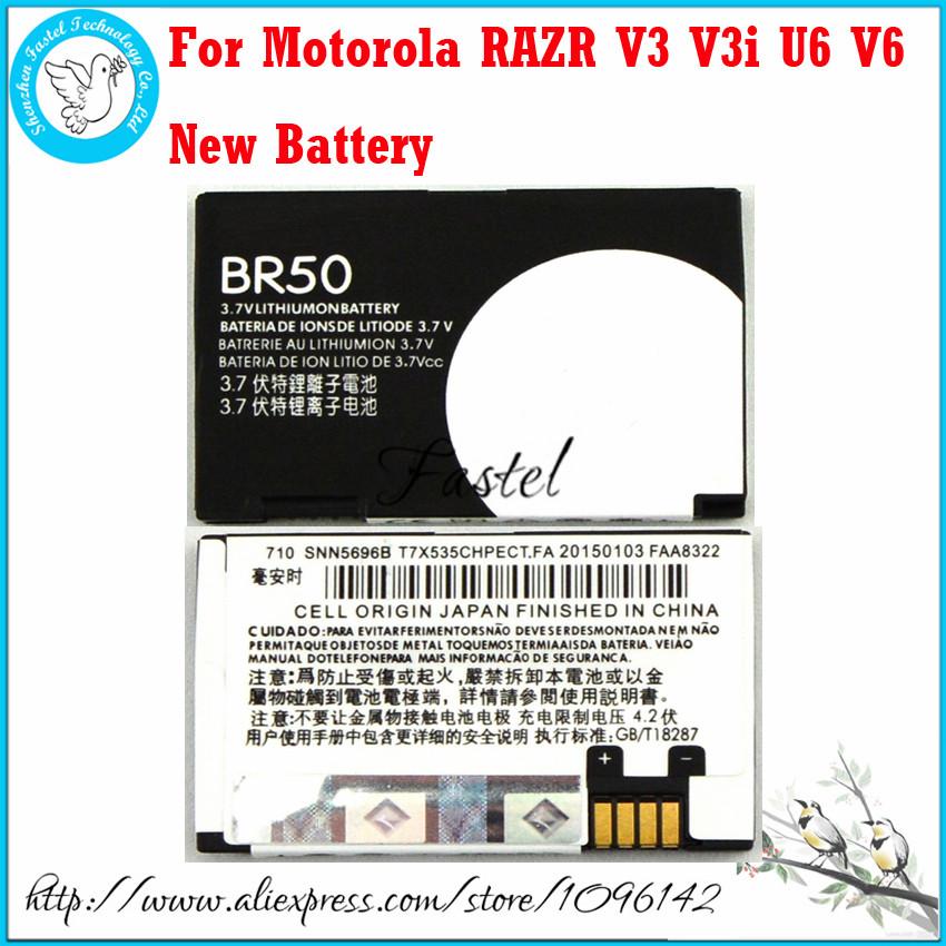 New BR50 Li-ion Mobile Phone Battery For Motorola RAZR V3 RAZR V3i PEBL U6/PEBL V6,710mAh,High Quality(China (Mainland))