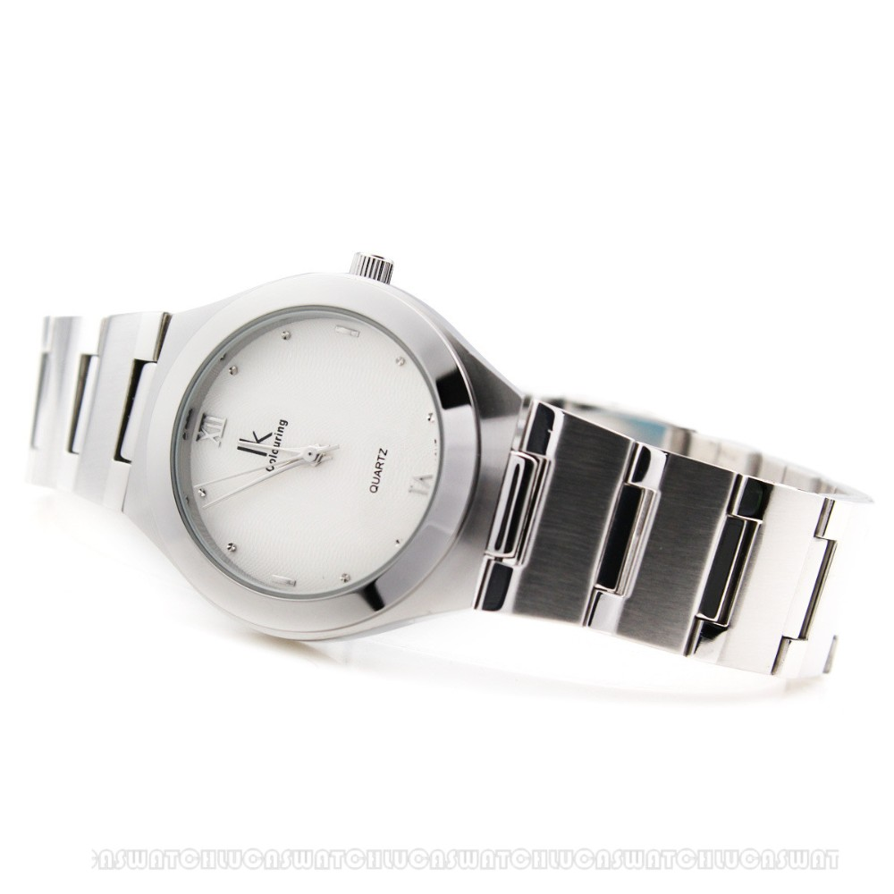 1pcs/lot Couples Watches Women Men Alloy Steel Lovers Quartz Watch IK Colouring Watches with Gift Box