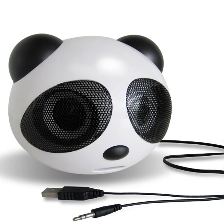 Mini Panda Shape USB 2.0 Portable Active Speaker Stereo Speaker for Laptop Notebook Desktop Cellphone(China (Mainland))