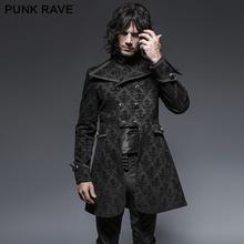 Punk Rave Flower Pattern Gothic Denim Fabric Man Jackets(China (Mainland))