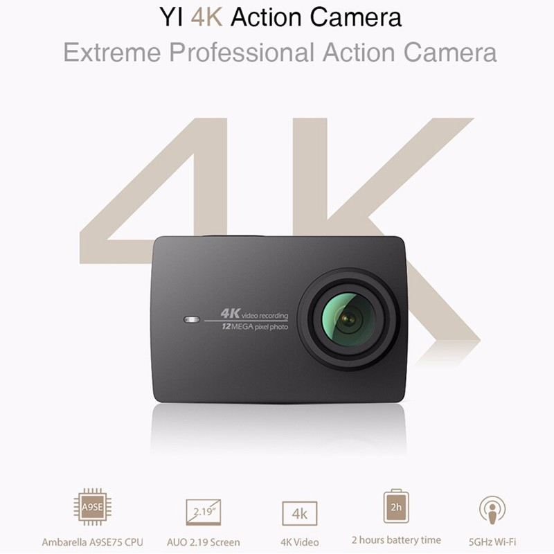 International Edition Xiaomi YI 4K Action Camera 2 Ambarella A9SE 12MP CMOS Xiaoyi Sports Camera 2.19″ 155 Degree EIS LDC WIFI